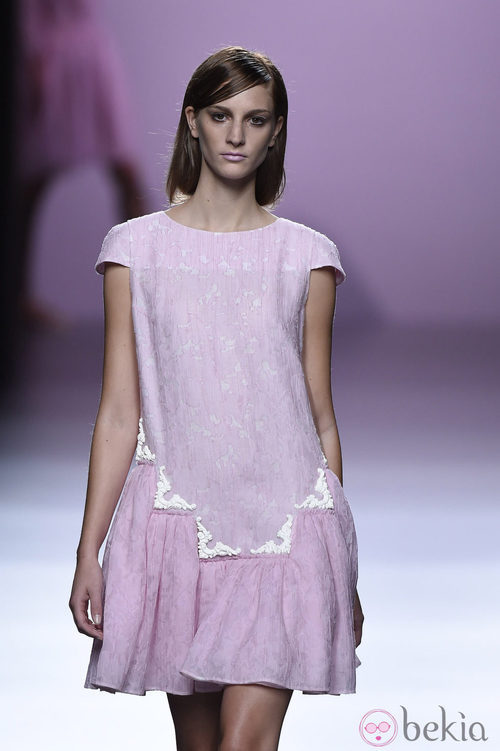 Vestido baby-doll de Devota & Lomba en Madrid Fashion Week primavera/verano 2015