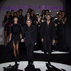 Roberto Verino tras su desfile de Madrid Fashion Week primavera/verano 2015