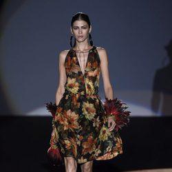 Vestido de flores de Roberto Verino en Madrid Fashion Week primavera/verano 2015