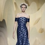 Vestido azul de Ana Locking en Madrid Fashion Week primavera/verano 2015