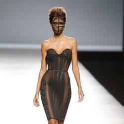Vestido con transparencias de Maya Hansen en Madrid Fashion Week primavera/verano 2015
