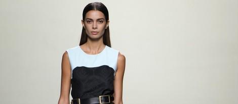 Vestido black&white de Roberto Torretta en Madrid Fashion Week primavera/verano 2015