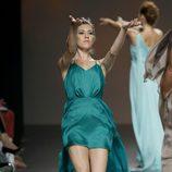 Vestido verde de Duyos en Madrid Fashion Week primavera/verano 2015