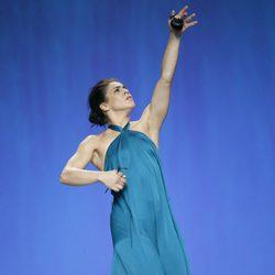 Vestido azul aguamarina de Duyos en Madrid Fashion Week primavera/verano 2015