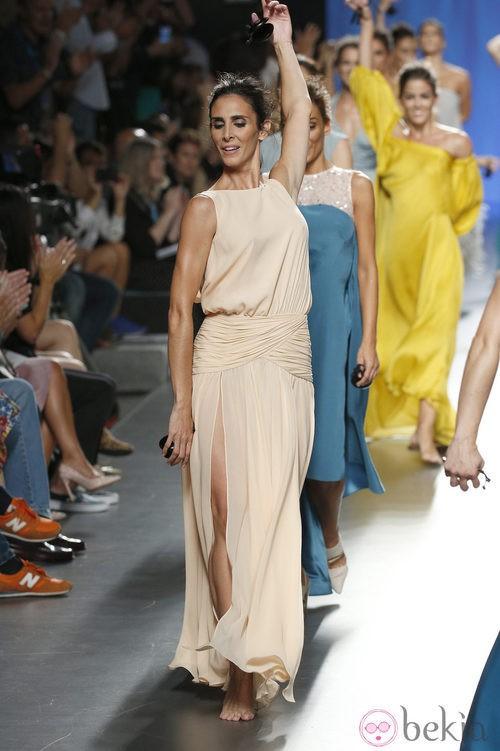 Vestido crema de Duyos en Madrid Fashion Week primavera/verano 2015