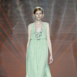 Vestido verde de Ailanto en Madrid Fashion Week primavera/verano 2015