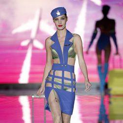 Conjunto lencero verde de Andrés Sardá en Madrid Fashion Week primavera/verano 2015