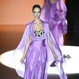 Vestido malva de Hannibal Laguna en Madrid Fashion Week primavera/verano 2015