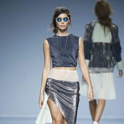 Conjunto metalizado de POL en EGO Madrid Fashion Week primavera/verano 2015