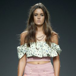 Crop top estampado y bermudas de Waberley en EGO Madrid Fashion Week primavera/verano 2015