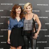 Elsa Pataky y Paula Ortiz en la presentación de la colección 'Dark Seduction' de Women'secret