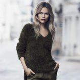 Jersey de micropelo y pantalón de seda lencero de H&M para otoño/invierno 2014