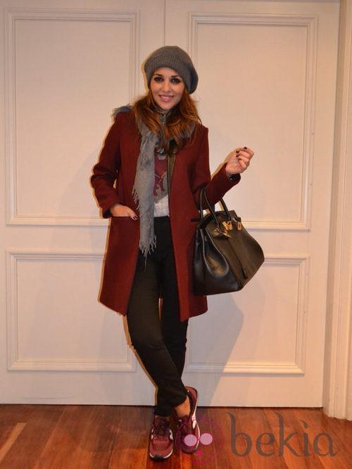 Paula Echevarría con un look casual y New Balance