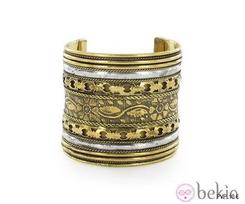 Brazalete plata y dorado de la colección 'Juego de Tronos' de Tantrend