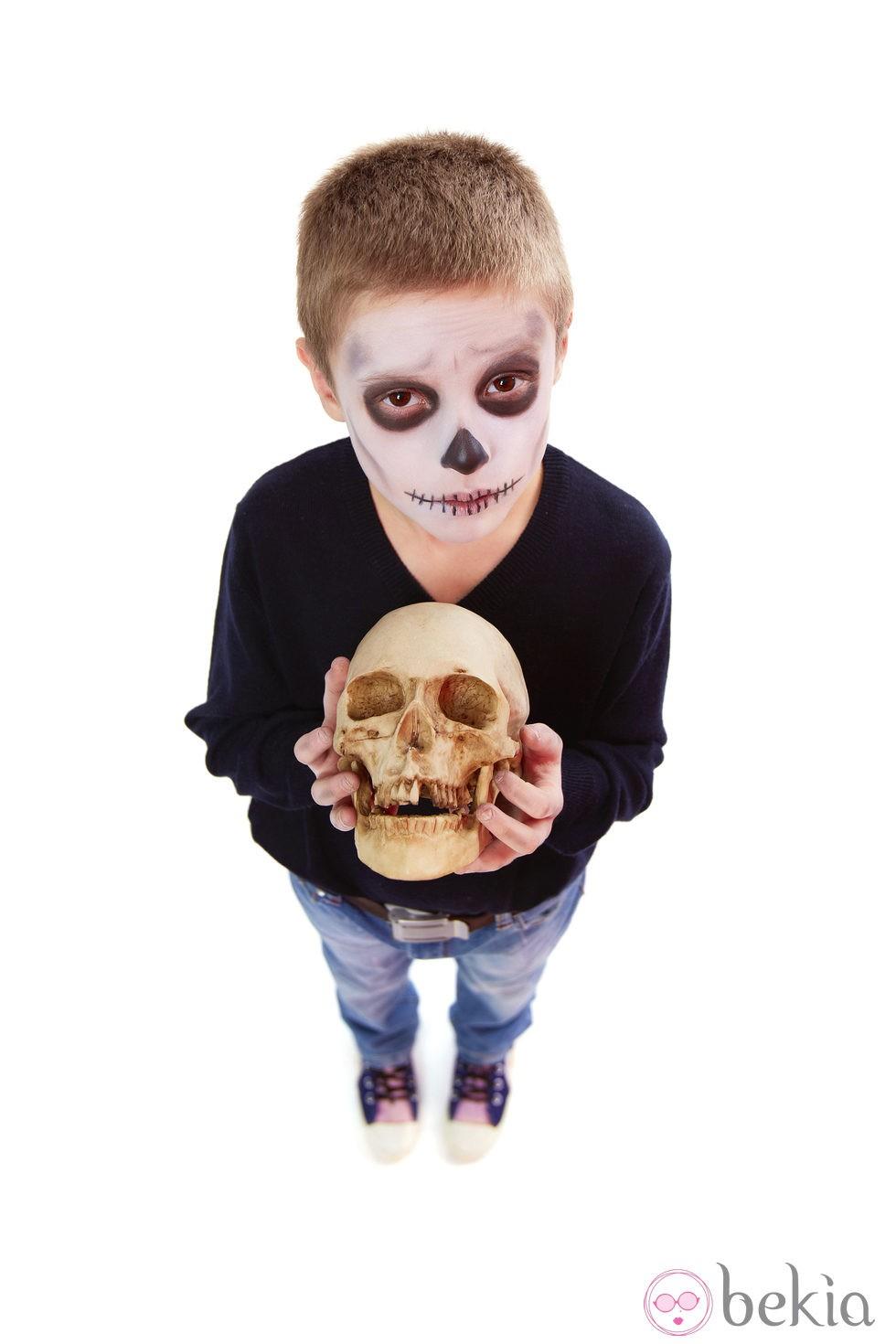 Disfraz de calavera para niños - Disfraces de Halloween