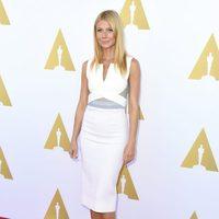Gwyneth Paltrow en la exposición Hollywood Costume vestida de Roland Mouret