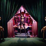 Missy Rayder posando con lencería de Agent Provocateur de la nueva colección Otoño/Invierno 2014