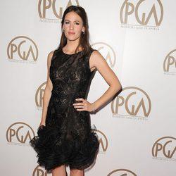 Jennifer Garner con un vestido con transparencias y bordados en la falda de Oscar de la Renta