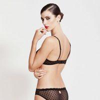 Conjunto de lencería transparente en negro de la nueva colección otoño/invierno 2014/2015 de Alma Bloom