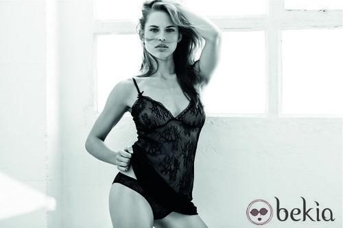 Conjunto de lencería de encaje negro de la nueva colección otoño/invierno 2014 de Women'secret