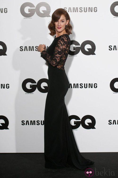 Ana Polvorosa con un vestido con transparencias negras