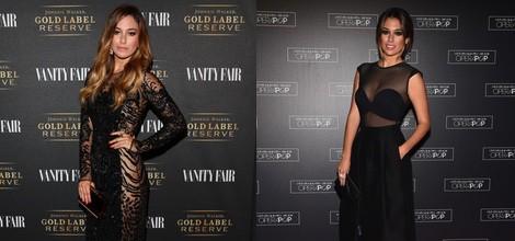 Blanca Suárez con un vestido con transparencias negras y pedrería