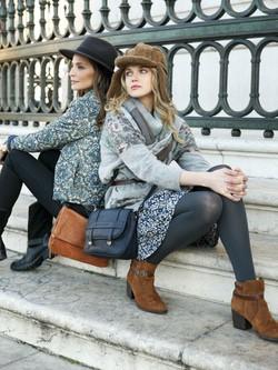 Silvia Zamora 'Lady Addict' y Anastasya Bondarenko posan para la nueva colección de Indi & cold