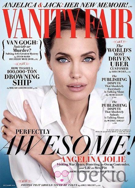 Angelina Jolie en portada para la edición de diciembre 2014 de Vanity Fair
