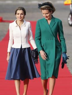 La Reina Letizia y Matilde de Bélgica en Bruselas