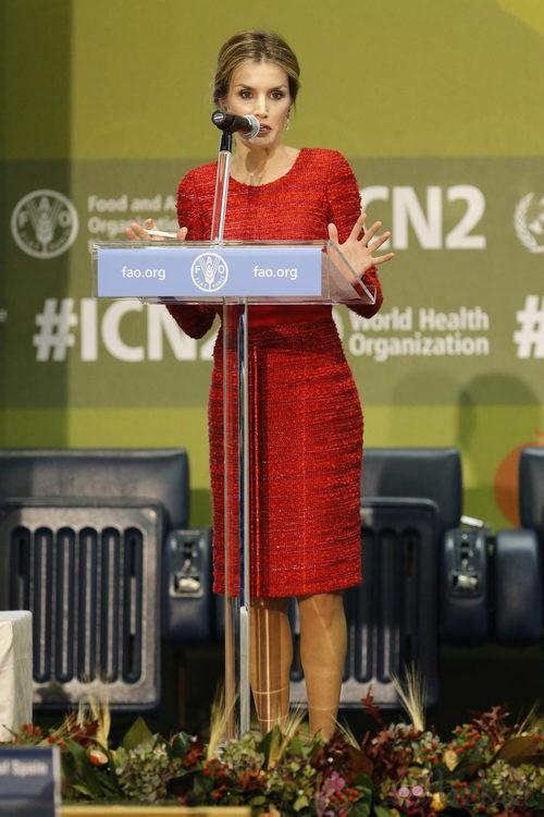 La Reina Letizia en la Segunda Conferencia Internacional de Nutrición en la FAO