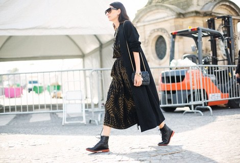 Vestido otoñal que pueden ser combinado con botines y sin medias ni calcetines