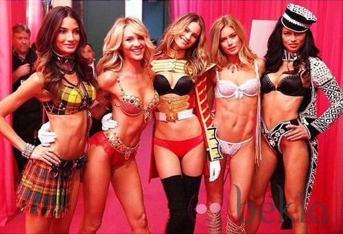Los ángeles de Victoria's Secret se preparan para el gran desfile en Londres
