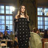 Vestido acolchado con aplicaciones de la colección pre-fall 2015 de Chanel