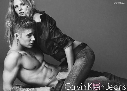 Calvin Klein presume de imagen para esta primavera con Justin Bieber y Lara Stone