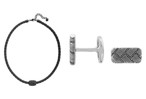 Collar de cuero con detalles en plata para hombre de la colección primavera/verano 2015 de Swarovski