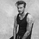 David Beckham con una camiseta de su colección bodywear primavera 2015