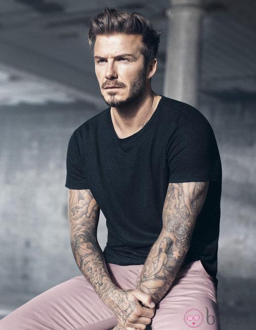 David Beckham con su colección Essentials primavera 2015
