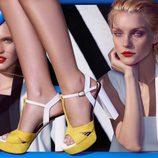 Jessica Stam con las sandalias de la colección primavera/verano 2015 de Kocca