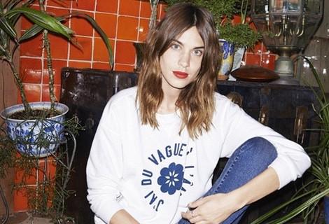 Alexa Chung posando para el catálogo primavera 2015 de AG Jeans