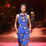Jumpsuit azul de Schiaparelli en la Semana de la Alta Costura de París primavera/verano 2015