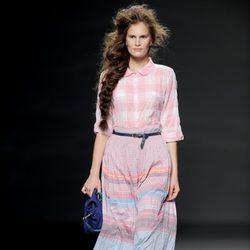 Falda larga multicolor de TCN en Cibeles