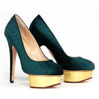 Zapatos verdes de plataforma de Charlotte Olympia