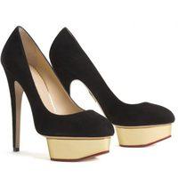Zapatos negros de plataforma de Charlotte Olympia