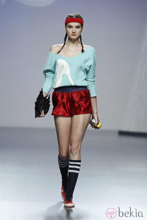 Camisa y shorts de Alba Cardalda en Cibeles, colección primavera 2012