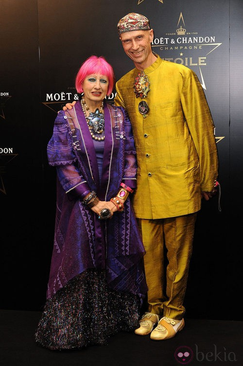 Zandra Rhodes en los premios de la moda Moët & Chandon Étoile en Londres