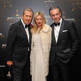 Mario Testino, Daniel Lalonde y Kate Moss en los premios de la moda Moët & Chandon Étoile en Londres