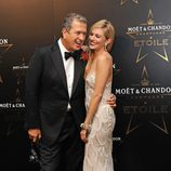 Mario Testino y Peaches Geldof en los premios de la moda Moët & Chandon Étoile en Londres