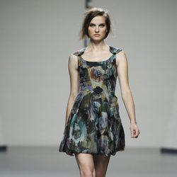 Vestido corto estampado de Beba's Closet en Cibeles, colección primavera 2012