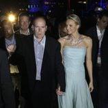 Charlene de Mónaco con pantalón palazzo de Chanel en su boda civil
