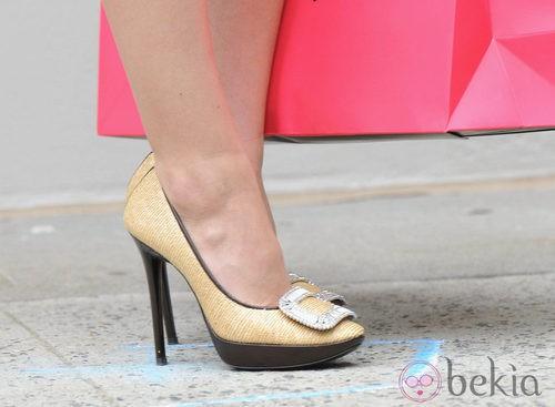 Zapatos de Roger Vivier durante el rodaje de 'Gossip Girl'
